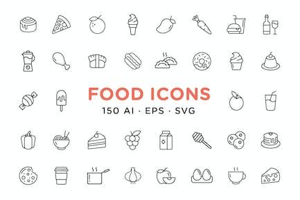 Minimalist Food Icons