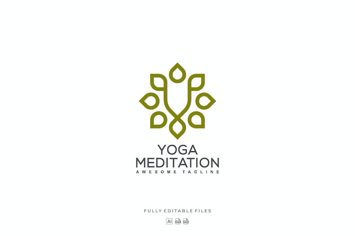 Thumbnail for Yoga Color Line Art Logo