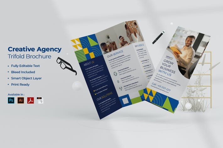 Thumbnail for Business Trifold Brochure
