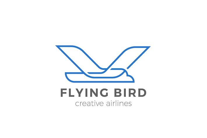 Thumbnail for Logo Flying Bird Eagle Geometric style