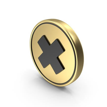 Multiply Cross Coin Sign Icon Symbol