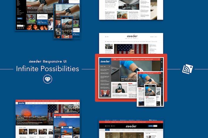 Thumbnail for 4eeder - Отзывчивый веб-интерфейс Kit