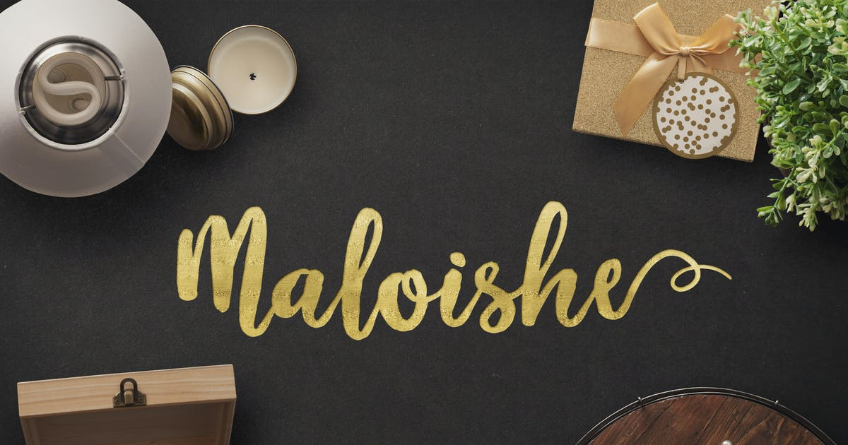 Download Maloishe Brush Script Font by DesignPanoply