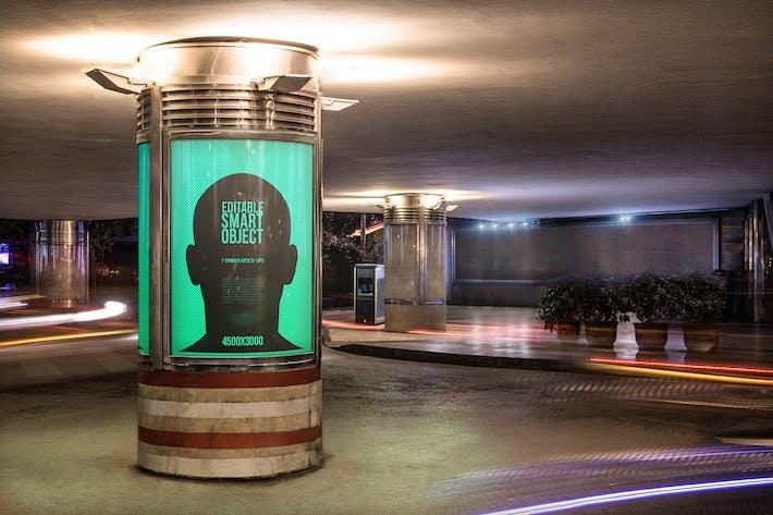 Thumbnail for Urban Poster-Billboard Maquetas - Edición Nocturna #6