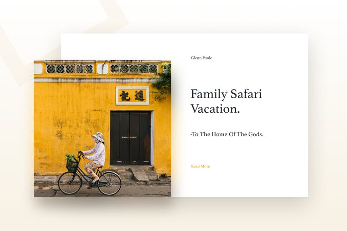 Thumbnail for Travel Blog Web Template