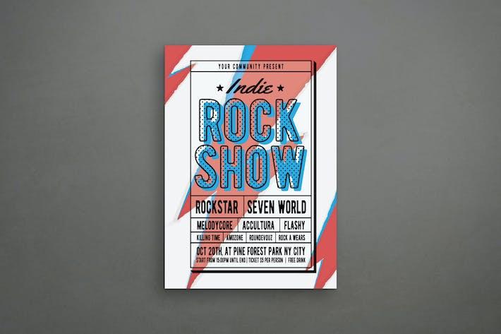 Thumbnail for Rock Music Flyer