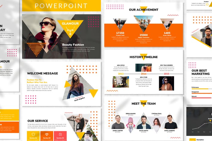 Thumbnail for Glamour - Fashion Powerpoint Template