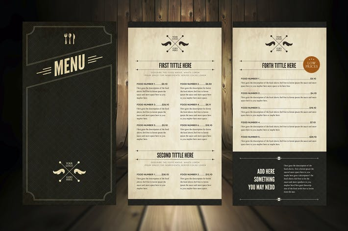 Thumbnail for Elegant Food Menu 5 Illustrator Template