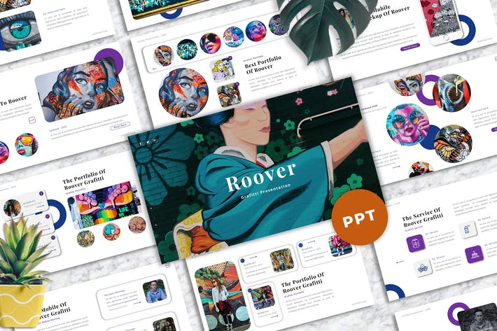 Thumbnail for Roover - Graffiti Powerpoint Templates