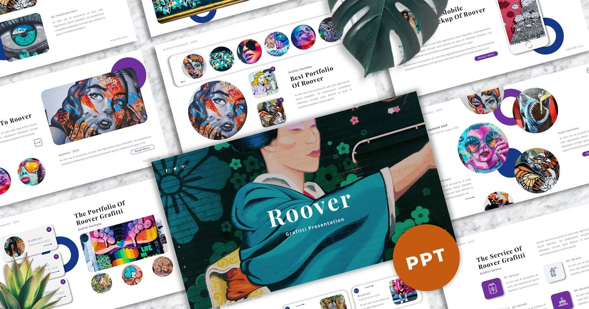 Download Roover - Graffiti Powerpoint Templates by Yumnacreative