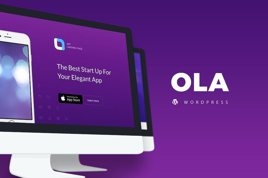 Ola - Mehrzweck-App Landing Page WordPressTheme