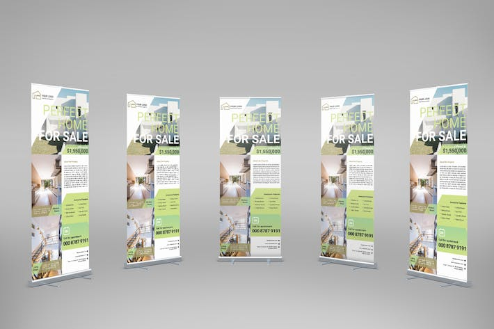Thumbnail for Apartment Real Estate - Roll-Up Banner