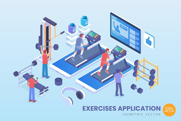 Thumbnail for Isometric Exercises Application Vector Concept