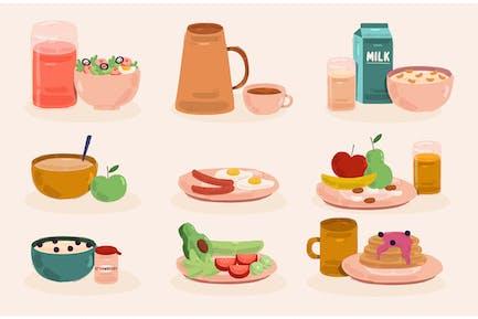 Breakfast Meals Illustration
