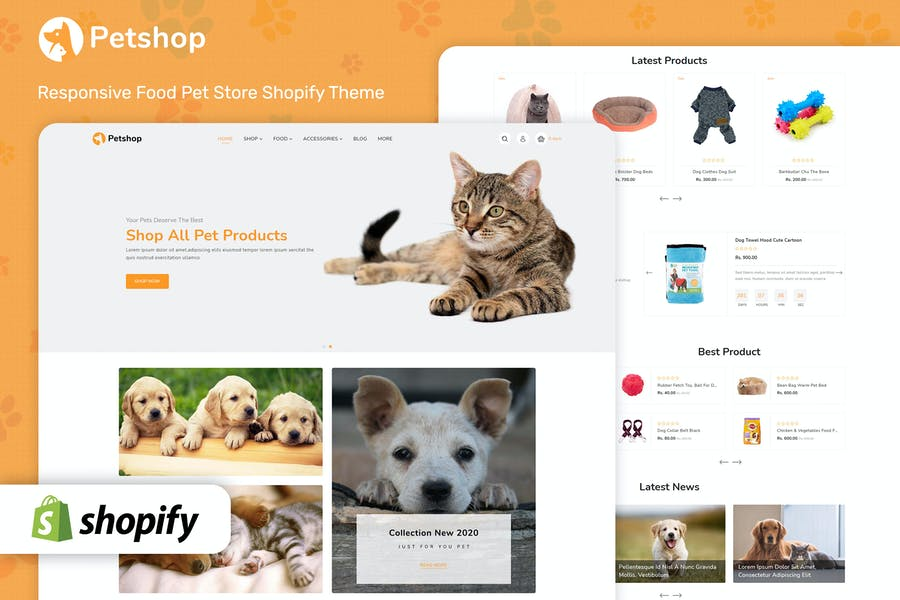 Petshop - Plantilla Shopify multipropósito de comercio electrónico