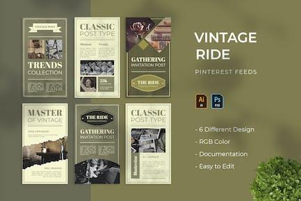 Vintage Ride | Pinterest Post Template