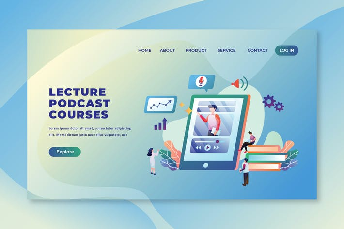 Thumbnail for Lecture Podcast Courses - PSD and AI Landing Page