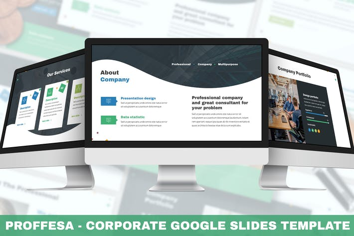 Thumbnail for Proffesa - Corporate Google Slides Template