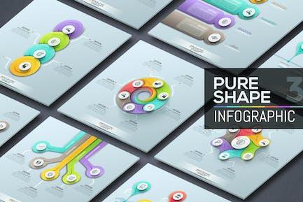 Pure Shape Infographics. Part 3