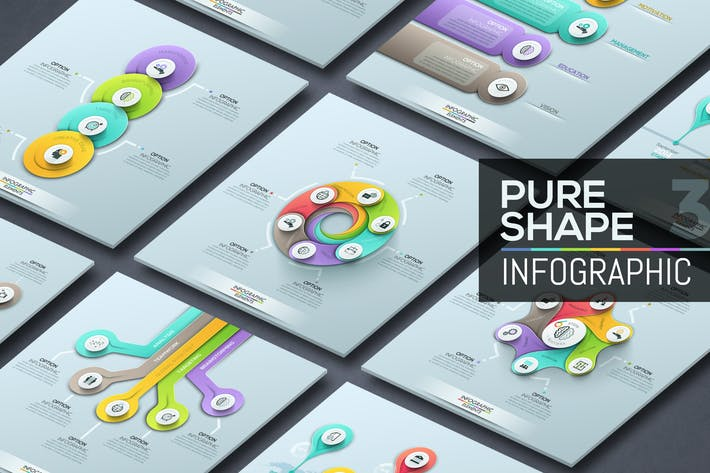 Thumbnail for Pure Shape Infographics. Part 3