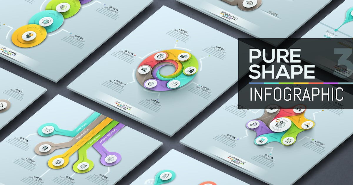 Download Pure Shape Infographics. Part 3 by Andrew_Kras
