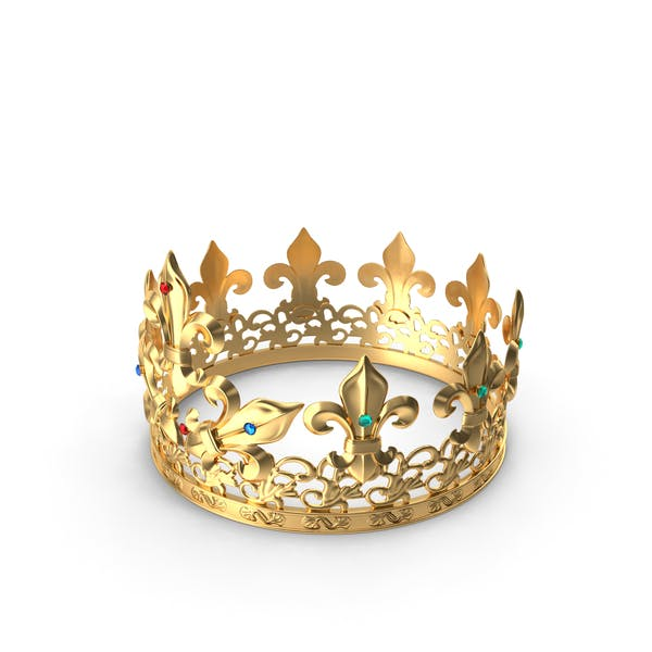 Golden King Crown with Gems