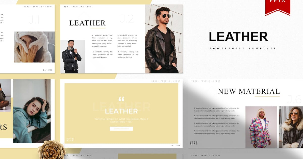 Download Leather   Powerpoint Template by Vunira