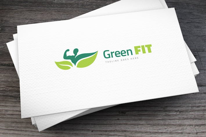Green Fit Logo Template