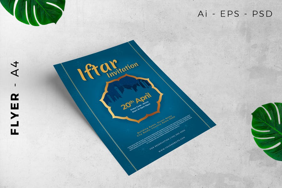 Flyer Ramadan iftar invitation