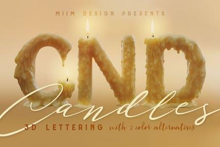 Kerzenlicht - 3D Schriftzug