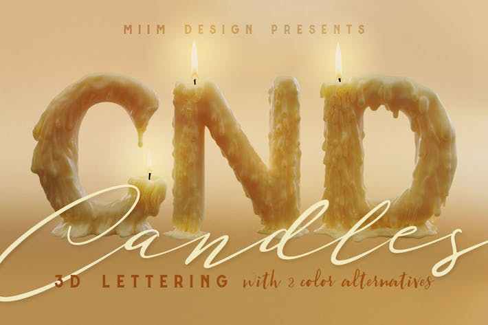Thumbnail for Candle Light – 3D Lettering
