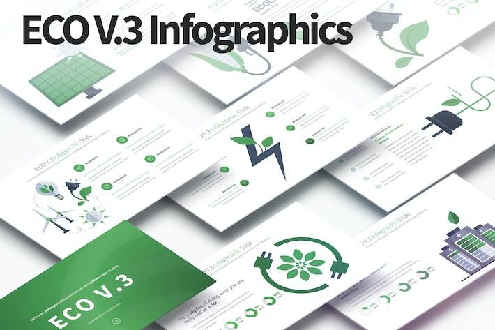 Thumbnail for ECO V.3 - PowerPoint Infographics Slides