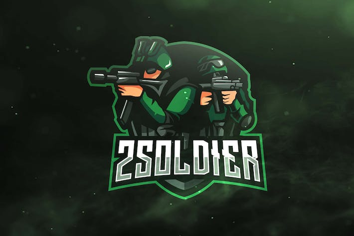 Thumbnail for 2 Soldier Sport and Esports Logos