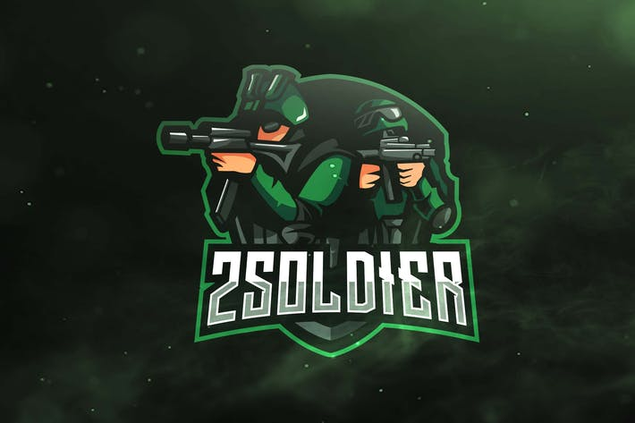 Cover Image For 2 Soldier Sport and Esports Logos