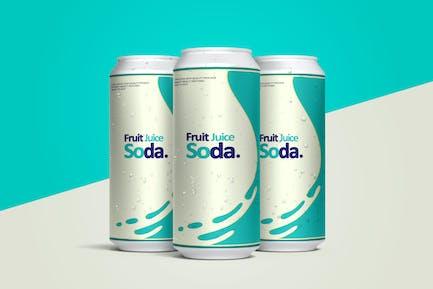 Soda Can Mockup Front angle view