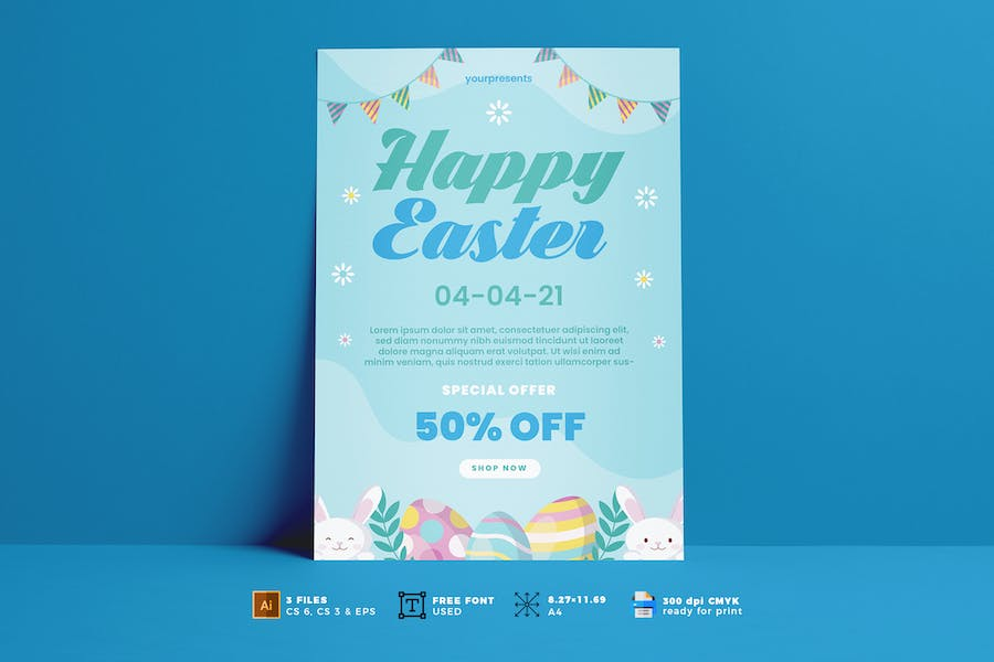 Easter Day Flyer Vol. 04