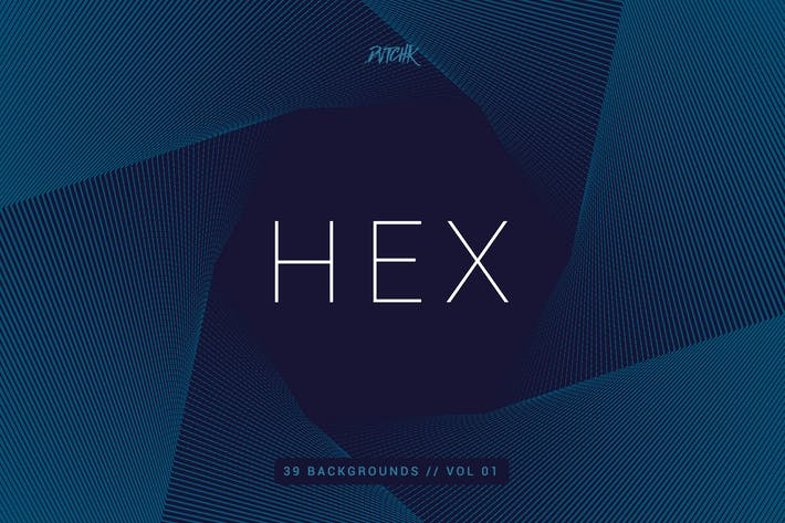 Thumbnail for Hex | Geometric Spiral Backgrounds | Vol. 01