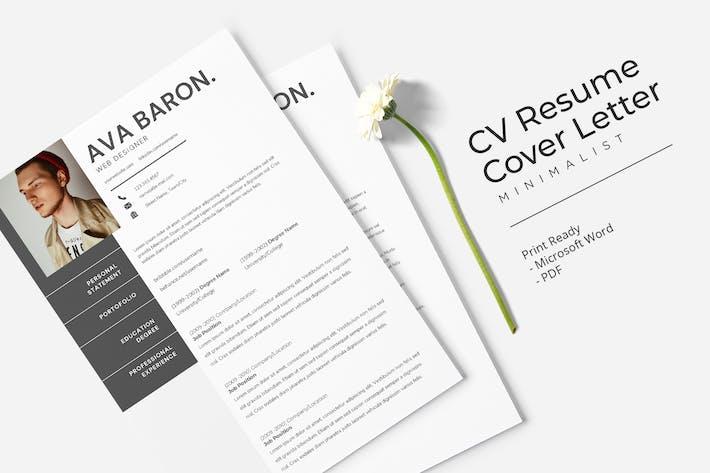 Thumbnail for Ava Braun - CV Resume Template