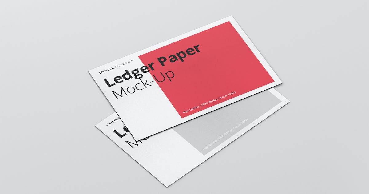 Download Ledger Paper Mockup - 17x11 by visconbiz
