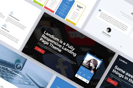 One Page Landing Page WordPress Theme