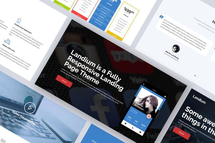 Thumbnail for One Page Landing Page WordPress Theme