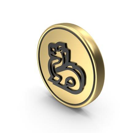 Значок Логотип монеты дракона