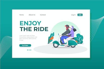 Enjoy the Ride Landing Page Illustration
