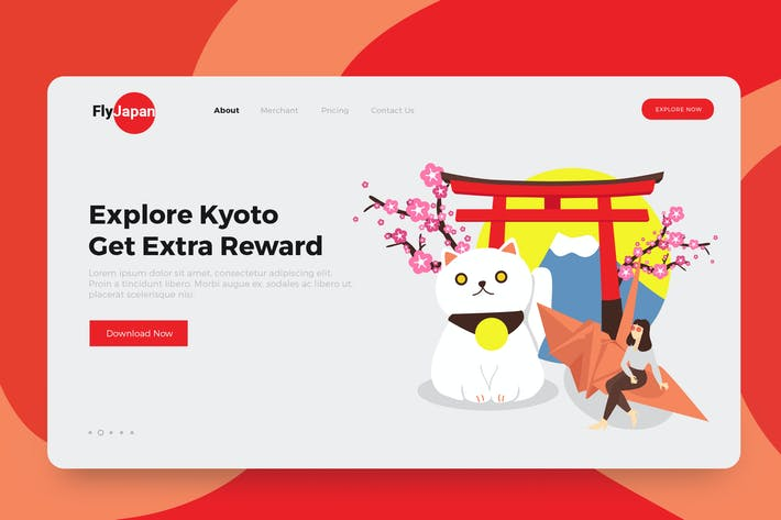 Thumbnail for Japan Travel Illustrations Landing Page