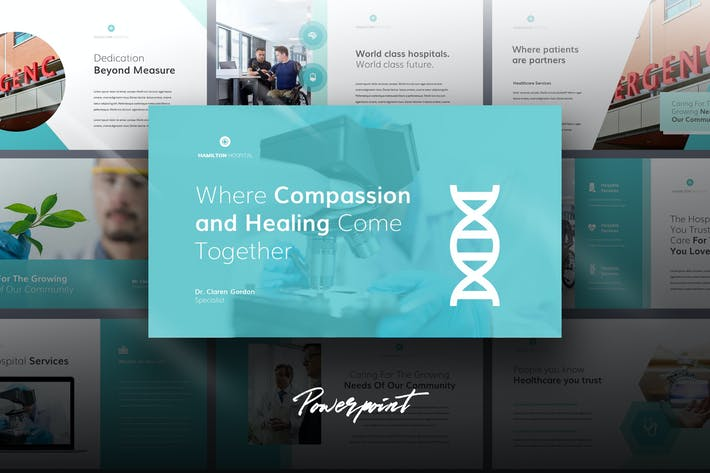 Cover Image For Hamilton - Medical Theme Powerpoint