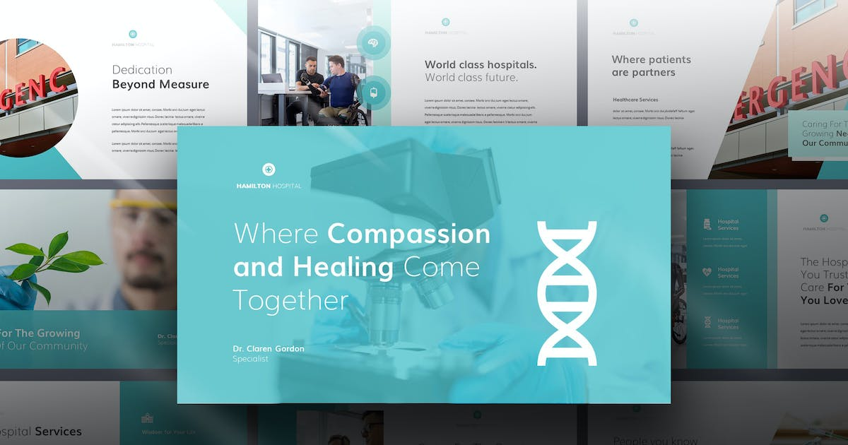 Download Hamilton - Medical Theme Powerpoint by Slidehack