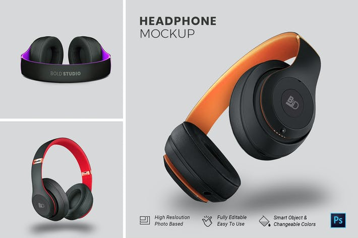 Thumbnail for HeadPhone Mockup