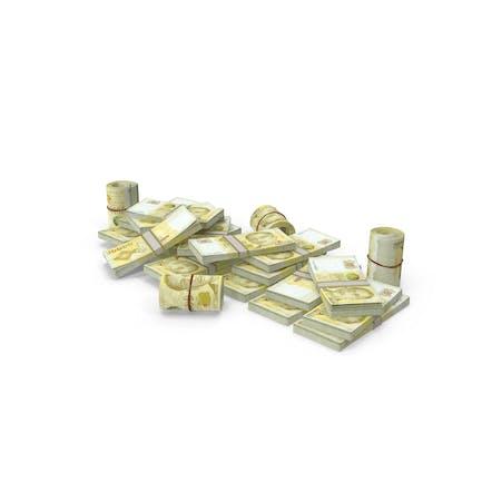 Pile of Singapore Dollar Stacks