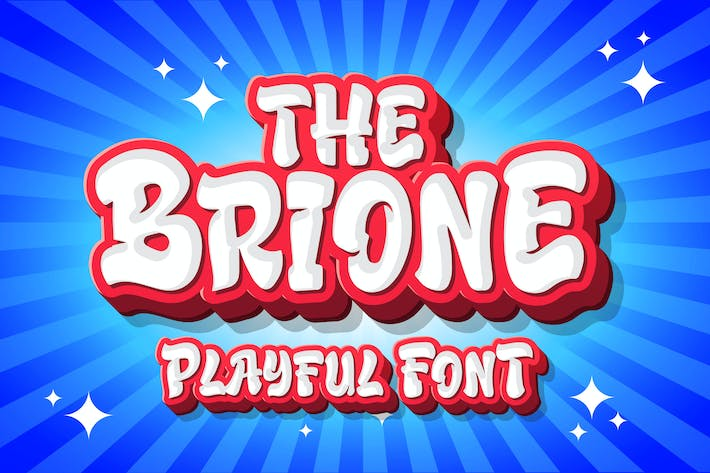 Thumbnail for Brione - Playful Font