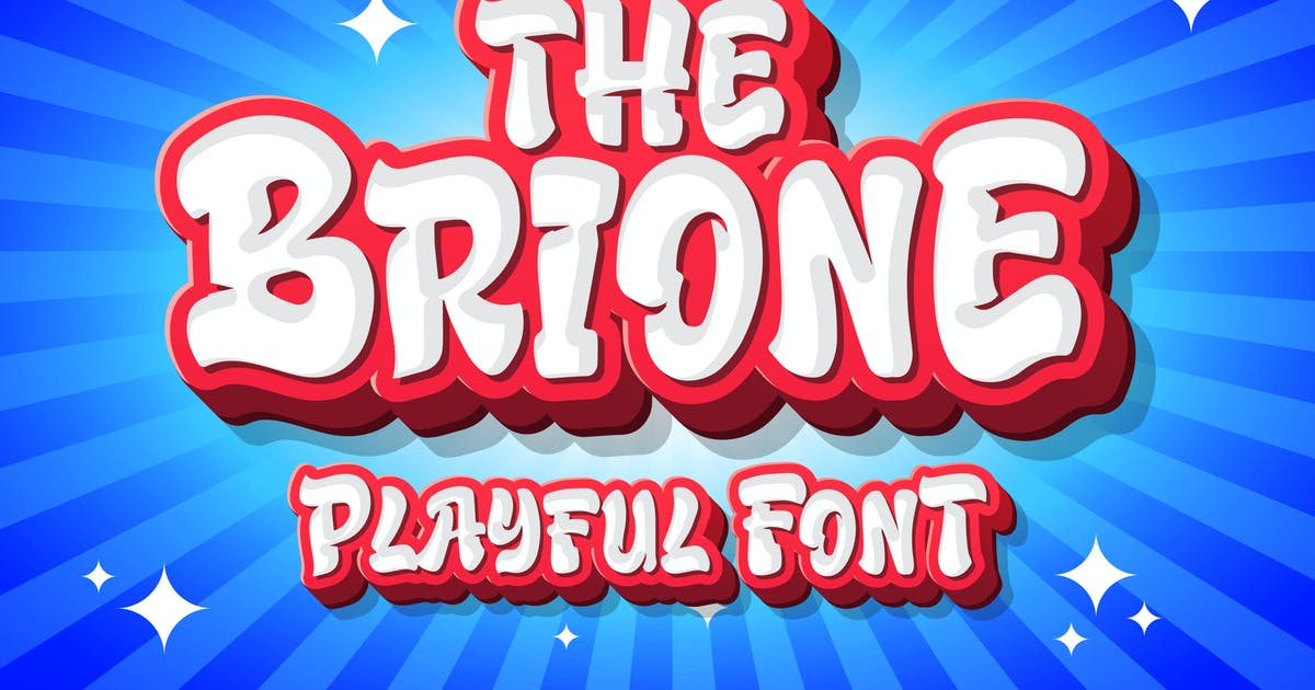 Download Brione - Playful Font by Blankids